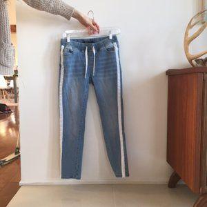 Light Blue Jeans w/ White Stripe